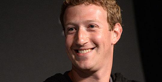 Facebook boss Mark Zuckerberg.