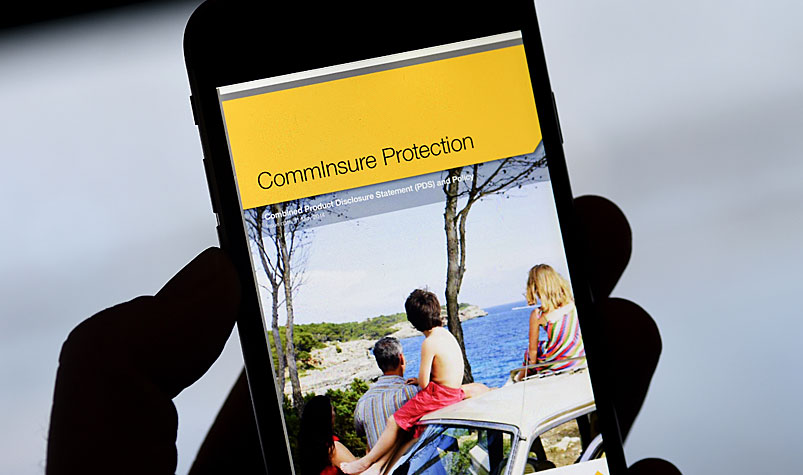Commonwealth Bank's CommInsure product advertising, (AAP)