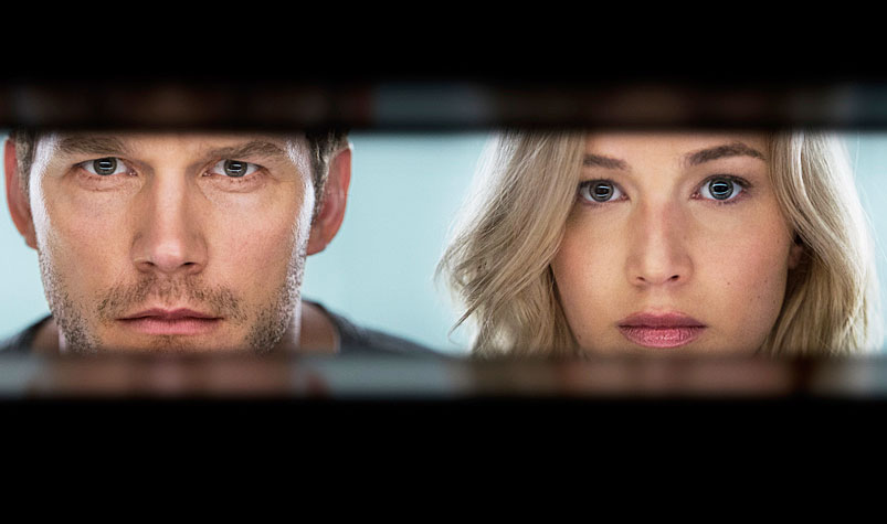 Sony's film 'Passengers' starring Jennifer Lawrence (left) and Chris Pratt.