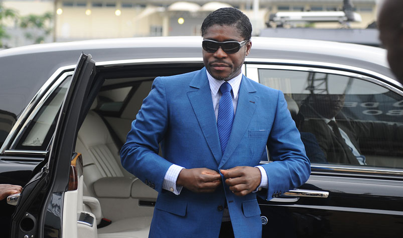 Teodorin Obiang, eldest son of President Teodoro Obiang and a vice-president himself, denies charges of laundering embezzled public funds. (AFP)