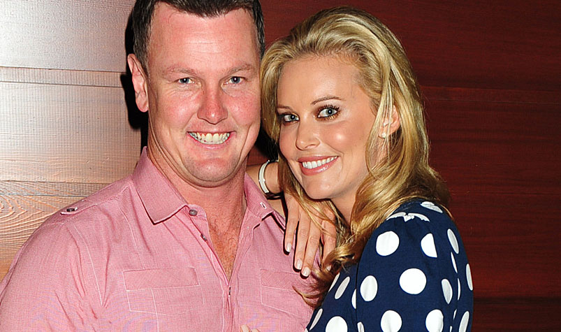 Anthony Bell and his wife Kelly Landry. (AAP)