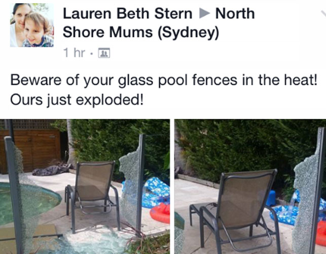 Glass Pool Fence Explodes During Sydney Heatwave