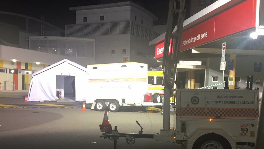 Patients Evacuated From The Canberra Hospital After Fire