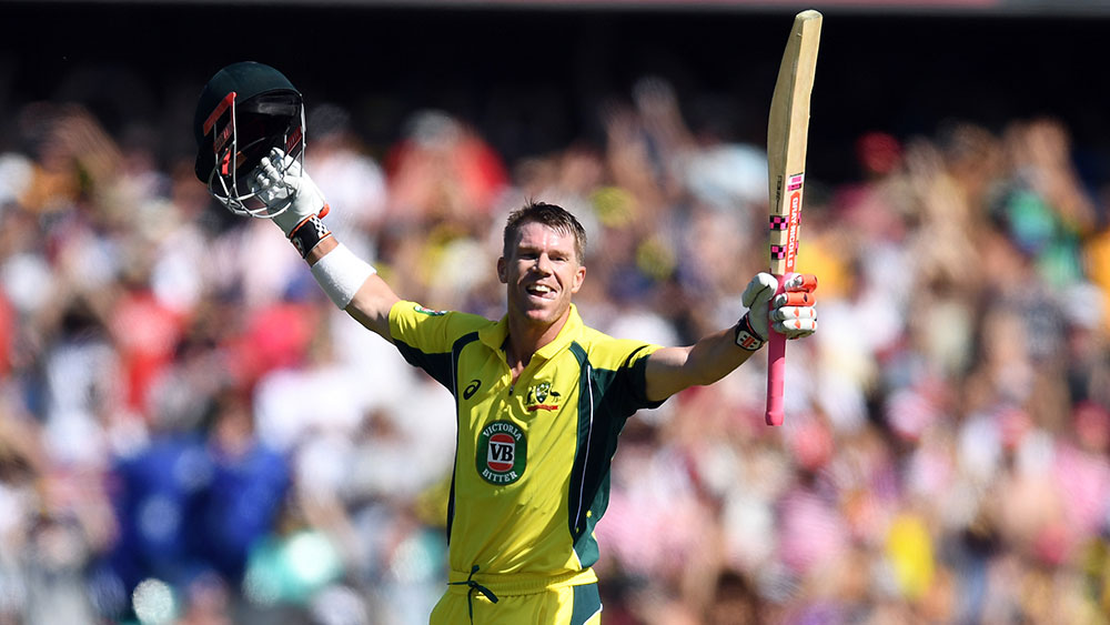 David Warner and his fellow players remain involved in a pay dispute. (AAP)