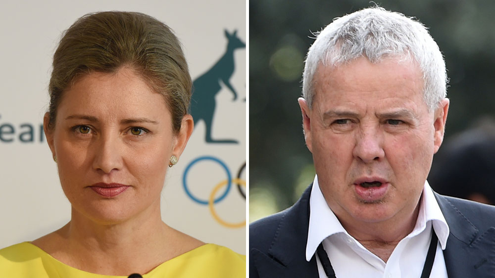 Former AOC chief executive Fiona de Jong and media director Mike Tancred. (AAP)