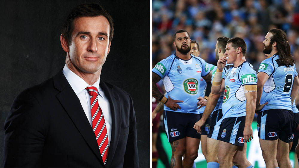 Andrew Johns and NSW players.