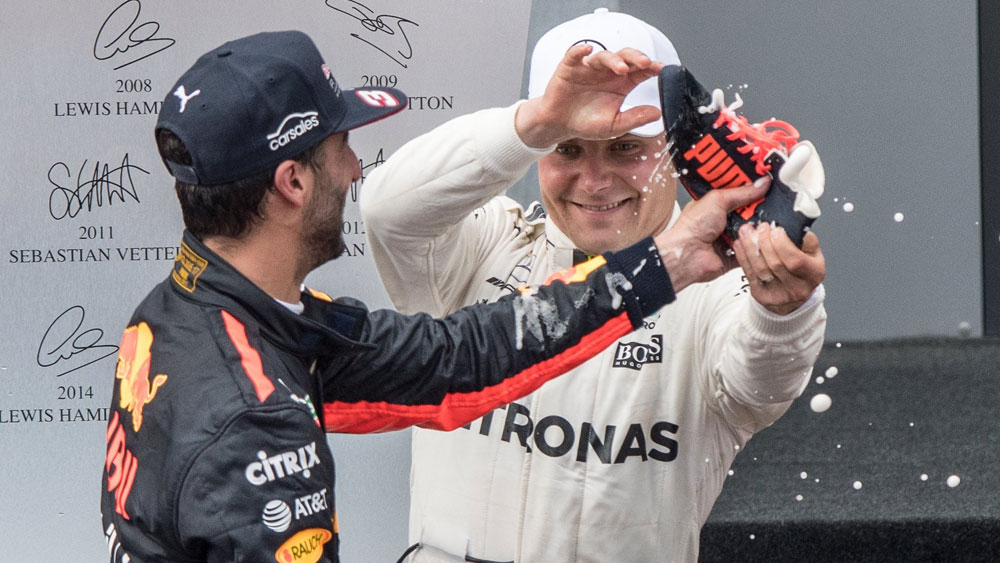 Daniel Ricciardo and Valtteri Bottas.