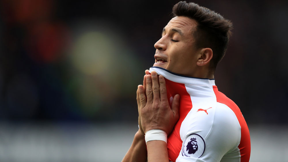 Arsenal will be without Alexis Sanchez for their first two EPL matches. (AAP)