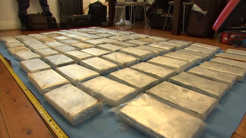 Drugs and illegal tobacco were seized during Tuesday's raids.