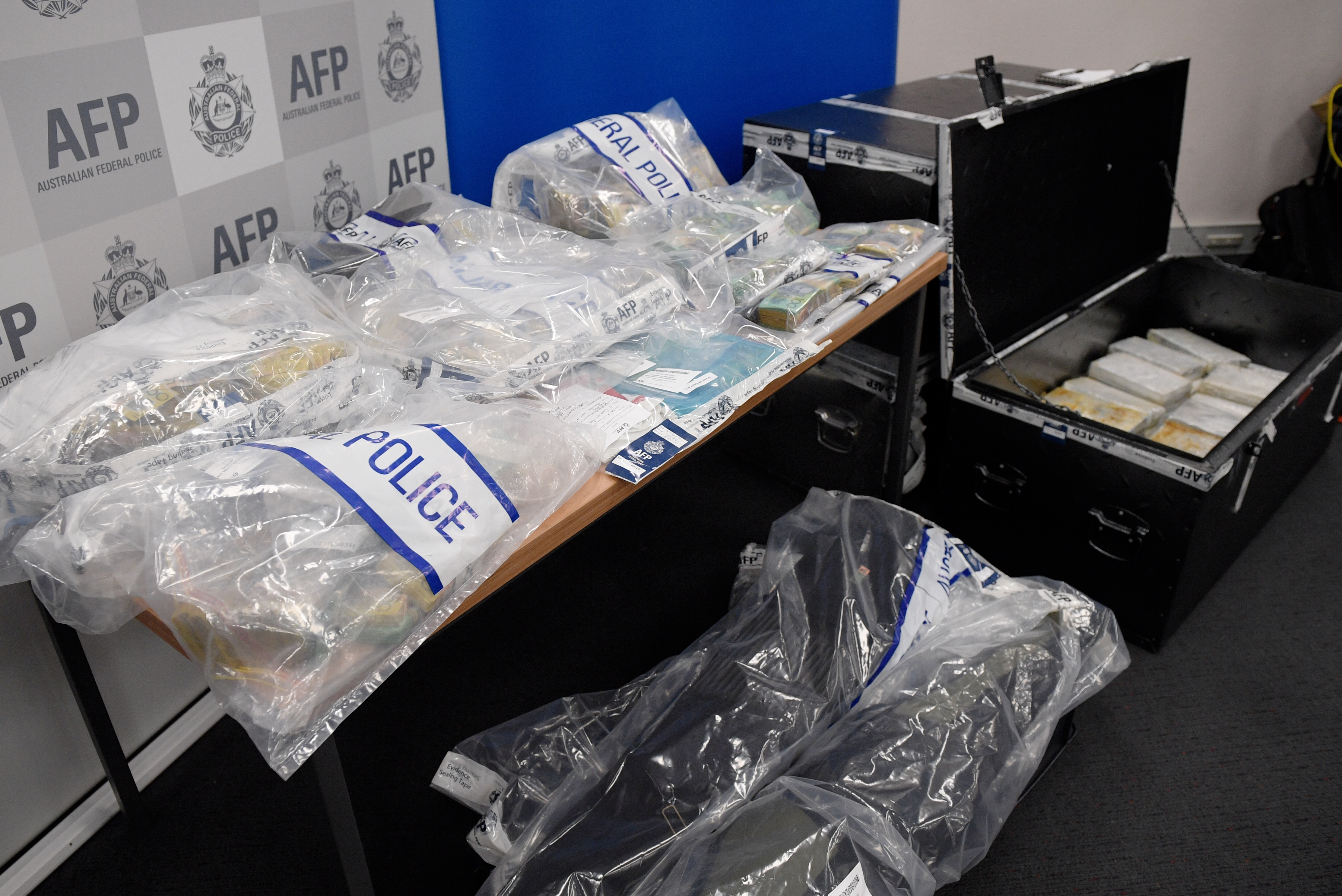 Drugs and illegal tobacco were seized during Tuesday's raids. (AAP)