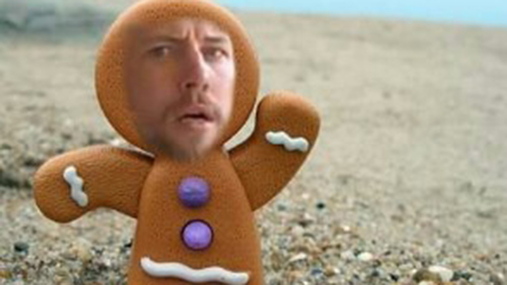 Davidson recently changed his profile picture to his face photoshopped over the Gingerbread Man. (Facebook)