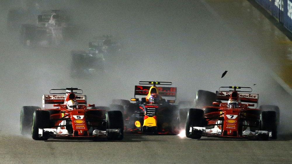 Singapore Grand Prix crash.
