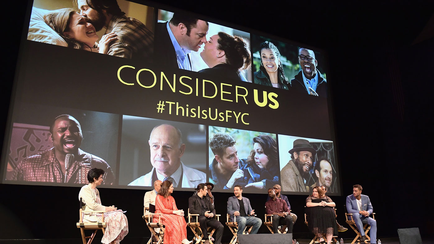 Cast and crew of 'This Is Us' speak onstage at FYC Panel Event for 20th Century Fox. The second season of the hit show won't air on Ten after negotiations with Fox broke down (Photo by Matt Winkelmeyer/Getty Images)