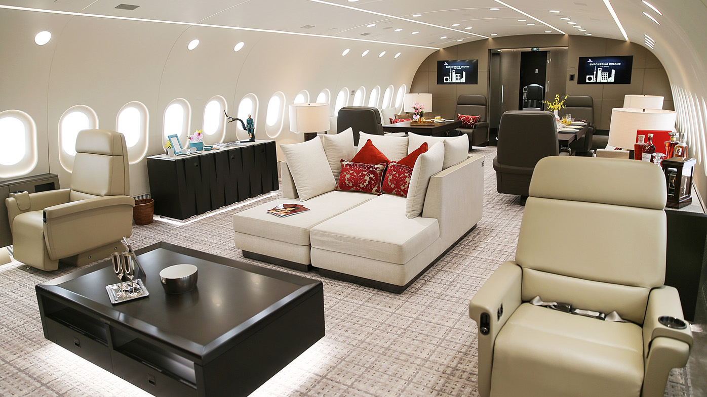Inside the world's only privately owned Boeing 787 Dreamliner jet