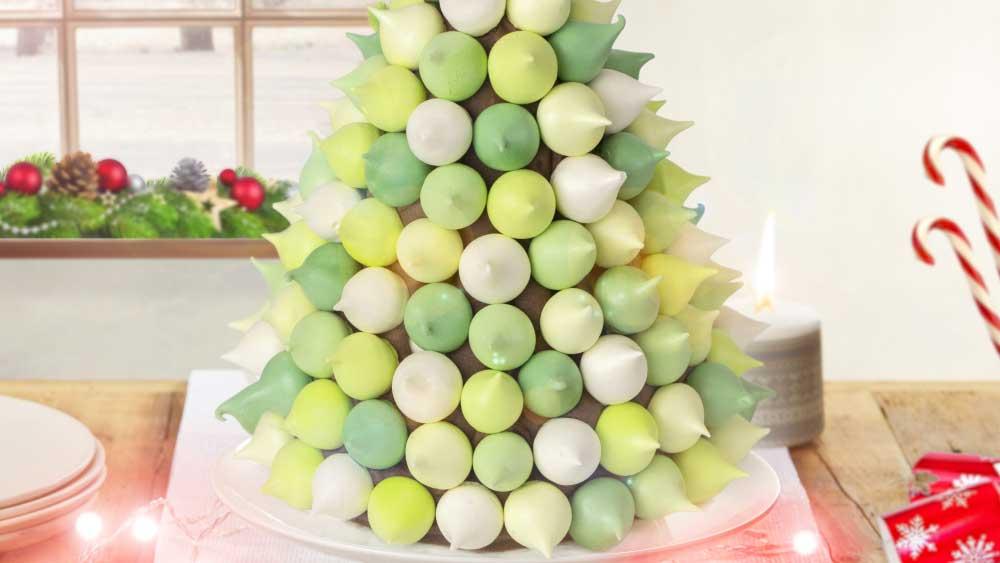 Christmas Tree Meringue.Kirsten Tibballs Christmas Meringue Tree