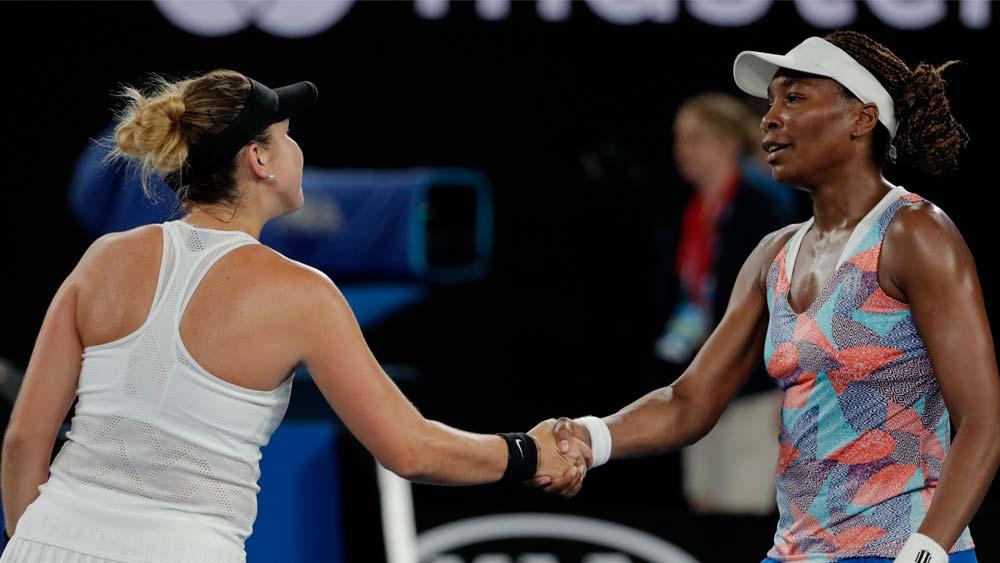 Belinda Bencic and Venus Williams