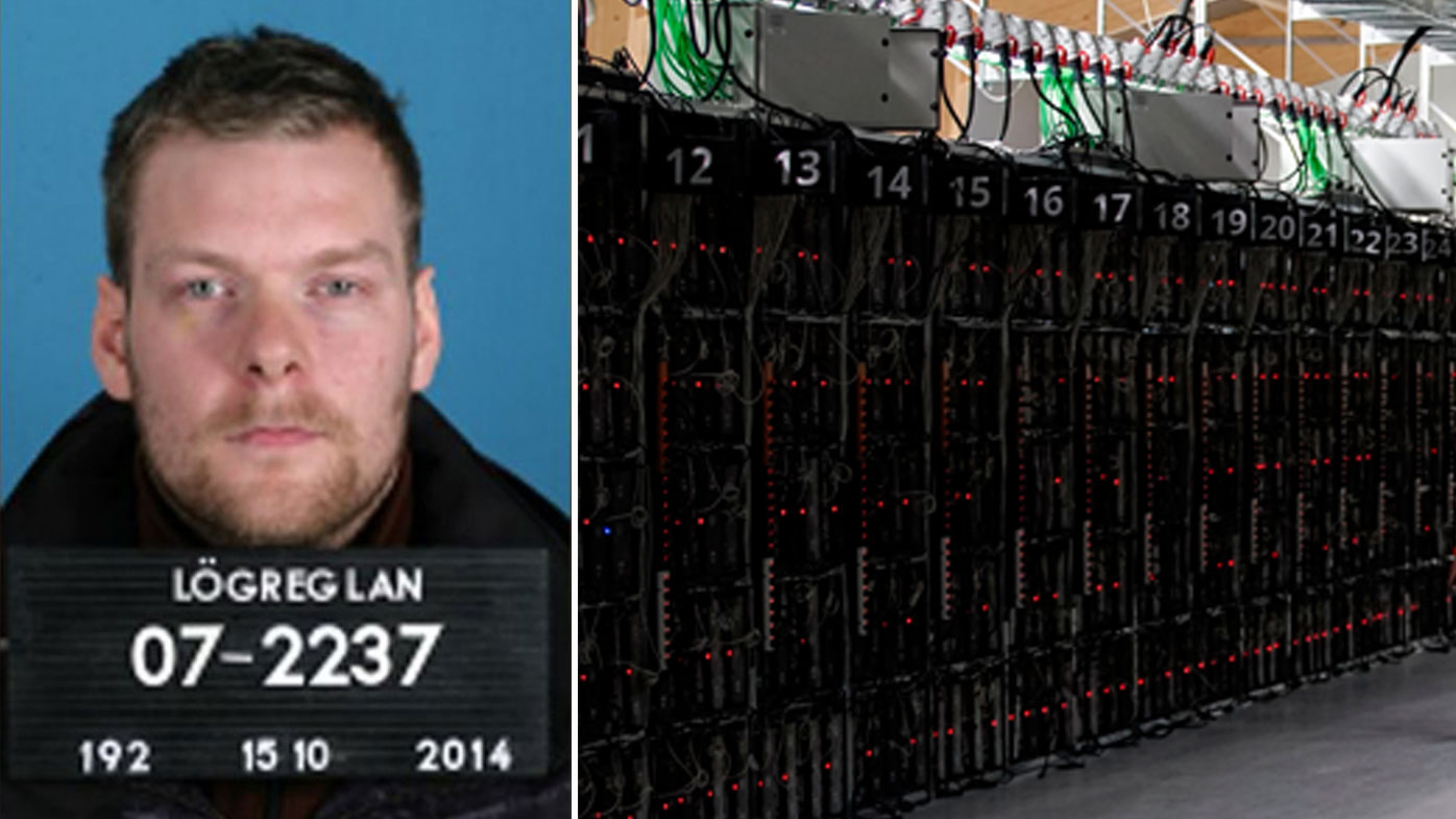 Sindri Thor Stefansson is suspected of masterminding the theft of about 600 computers that were being used to mine bitcoin and other virtual currencies. (Lögreglan/AP)