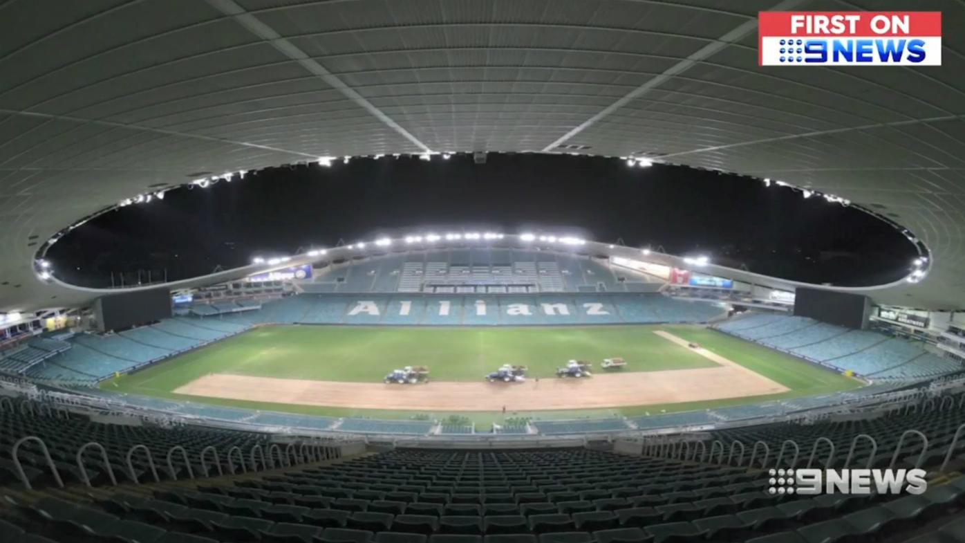 Allianz Stadium re-turf