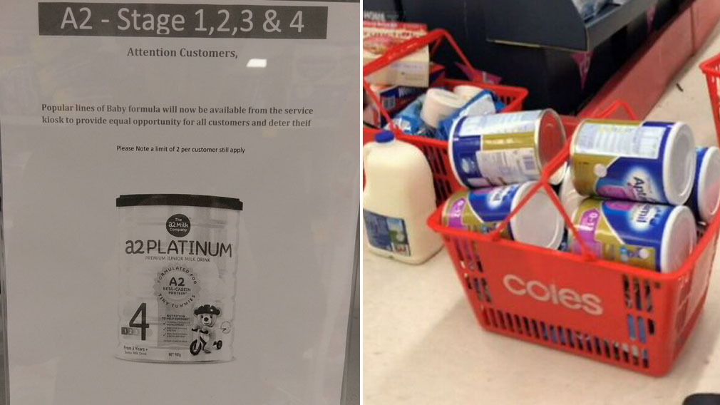 Baby formula locked up like cigarettes in supermarkets