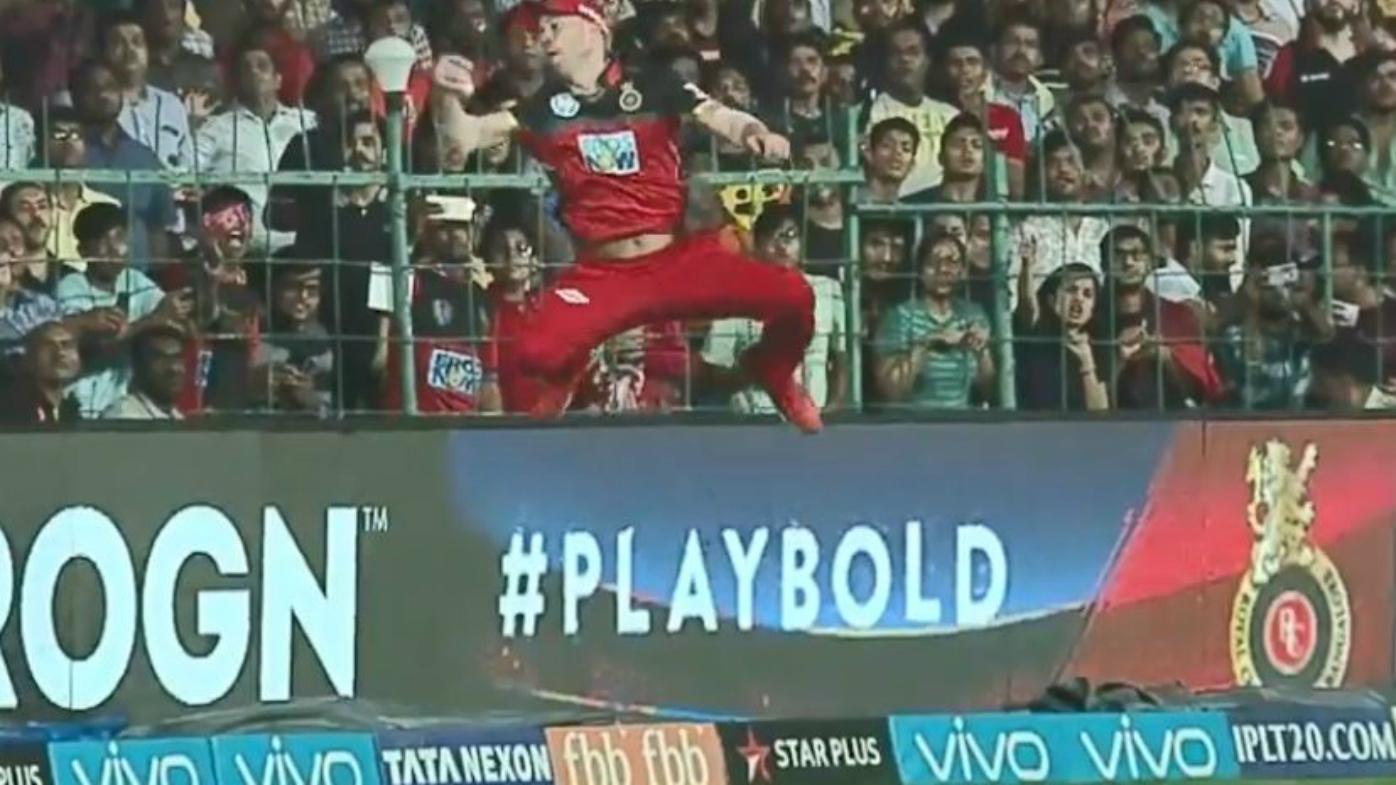 AB de Villiers takes a catch