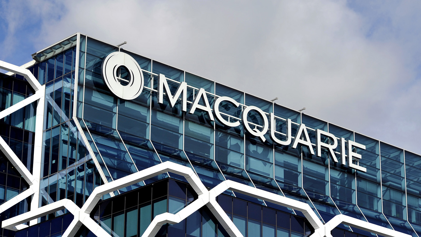 Macquarie Group signage is seen in Sydney, Friday, Aug. 26, 2016. (AAP Image/Joel Carrett)