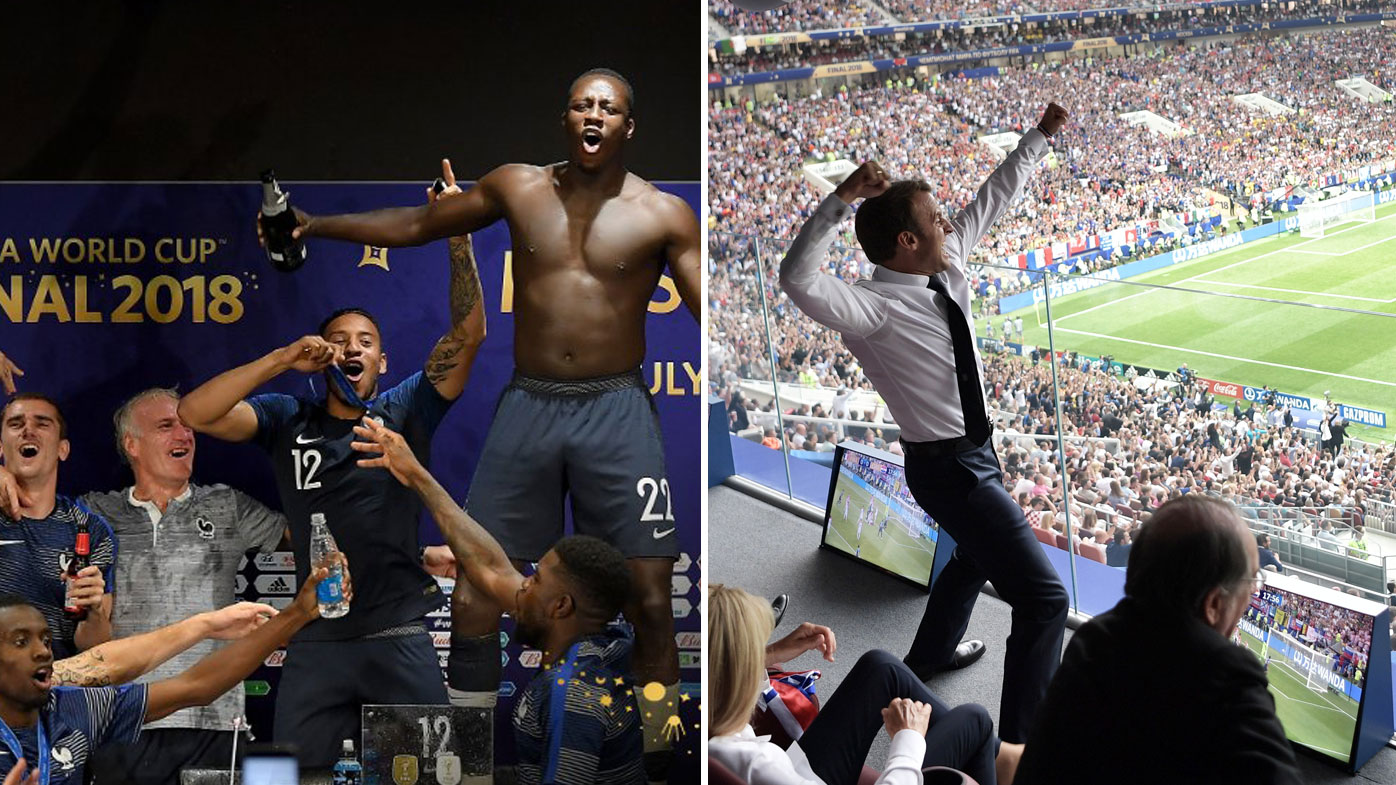 France celebrate their World Cup victory