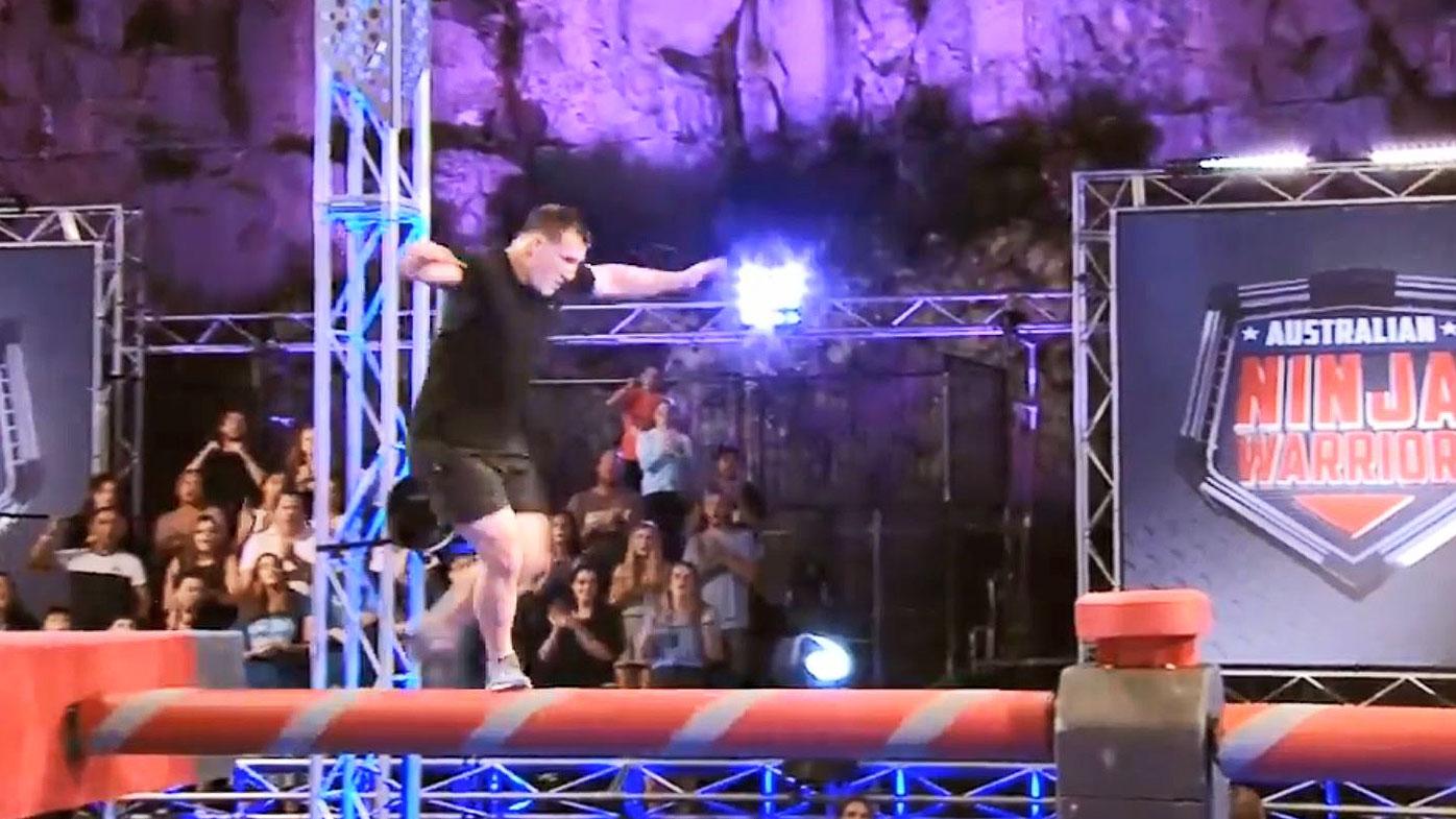 NRL: Cronulla Sharks captain Paul Gallen crashes out of Ninja Warrior semi-finals