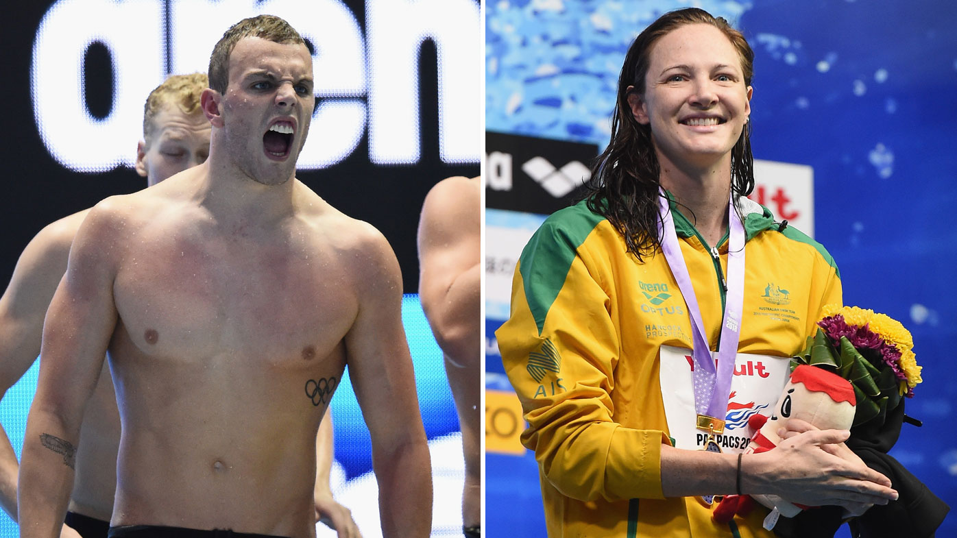 Kyle Chalmers and Cate Campbell