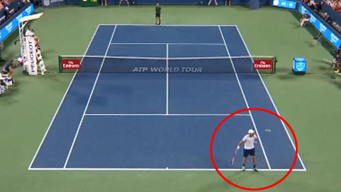 Tennis News Steve Johnson S Classic Catch In Match Against Novak Djokovic Video Cincinnati Open