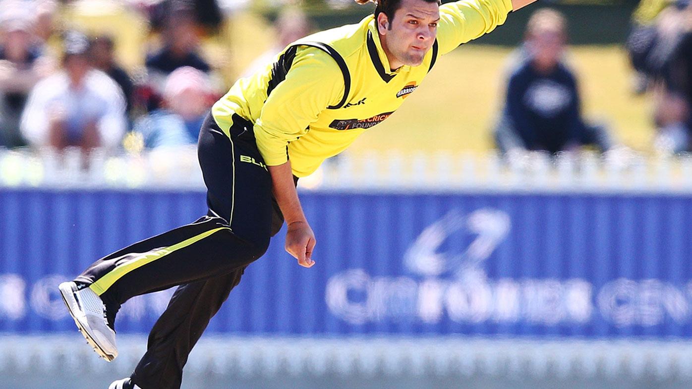 Usman Qadir playing for Western Australia in the JLT Cup
