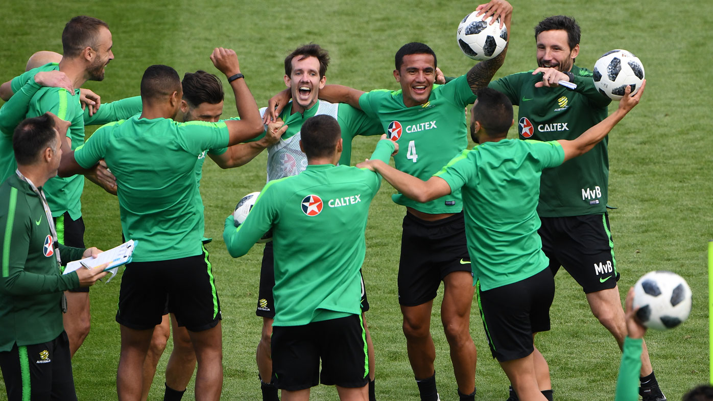 Socceroos in camp