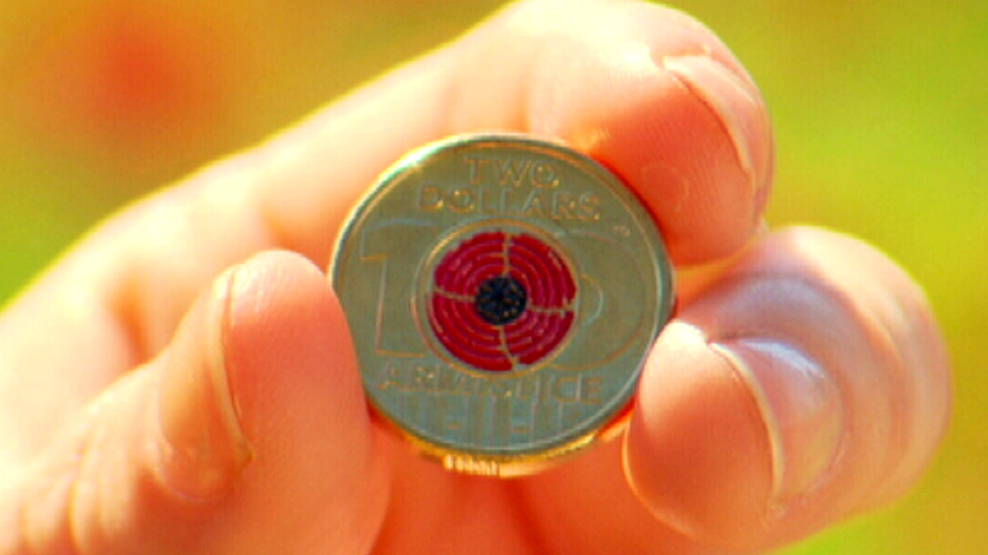 The special $2 coin commemorates 100 years of Remembrance