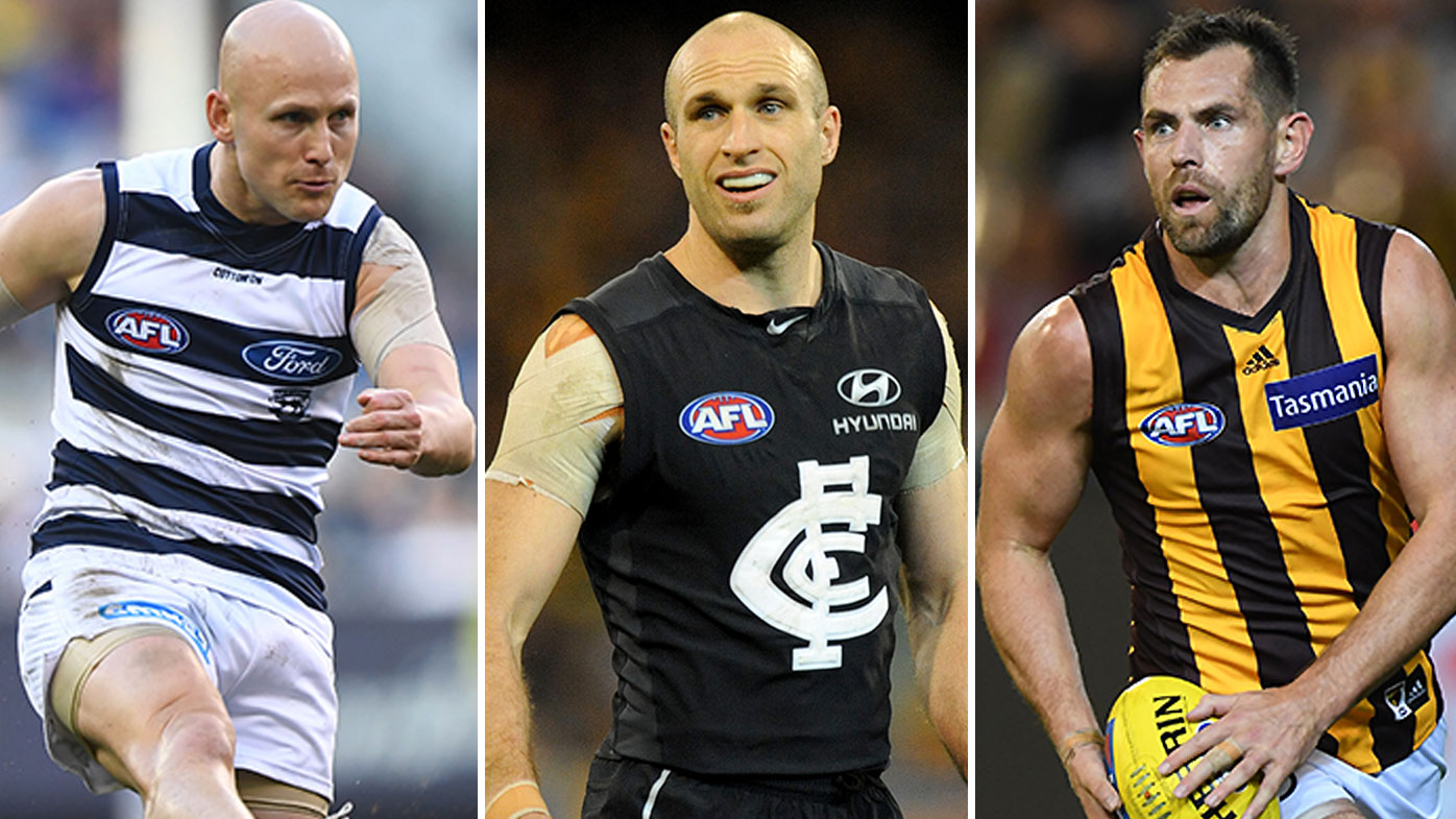 Gary Ablett Chris Judd Luke Hodge