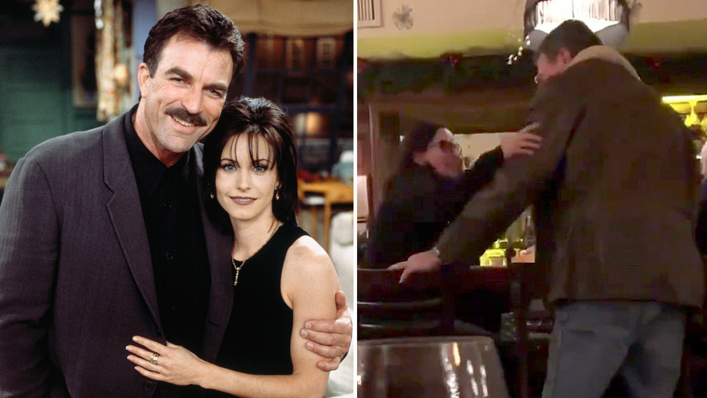Courteney Cox and Tom Selleck had a mini 'Friends' reunion