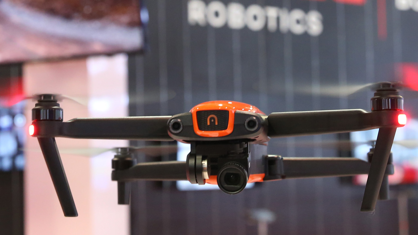 Autel Robotics - EVO 4K Drone with Skycontroller is displayed during the 2019 Consumer Electronics Show.