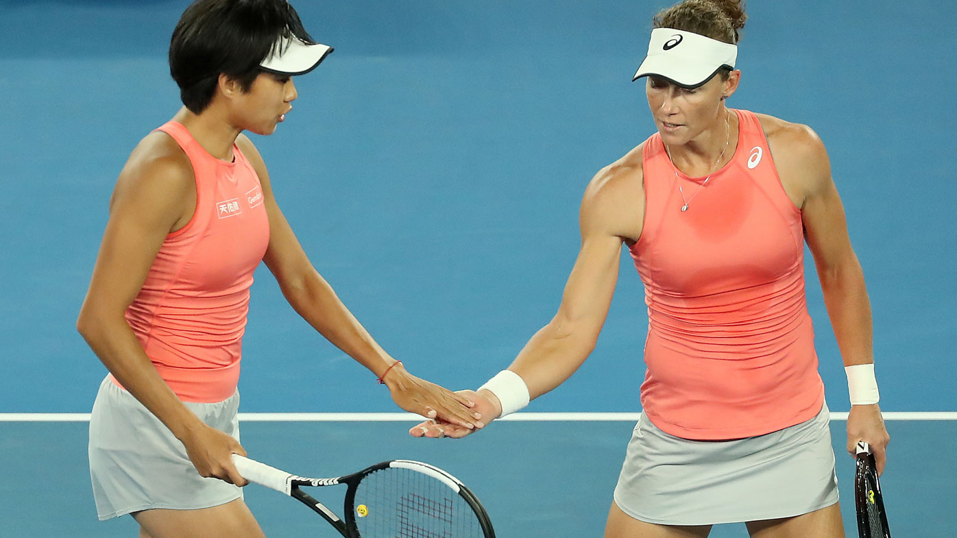 Sam Stosur and Zhang Shuai