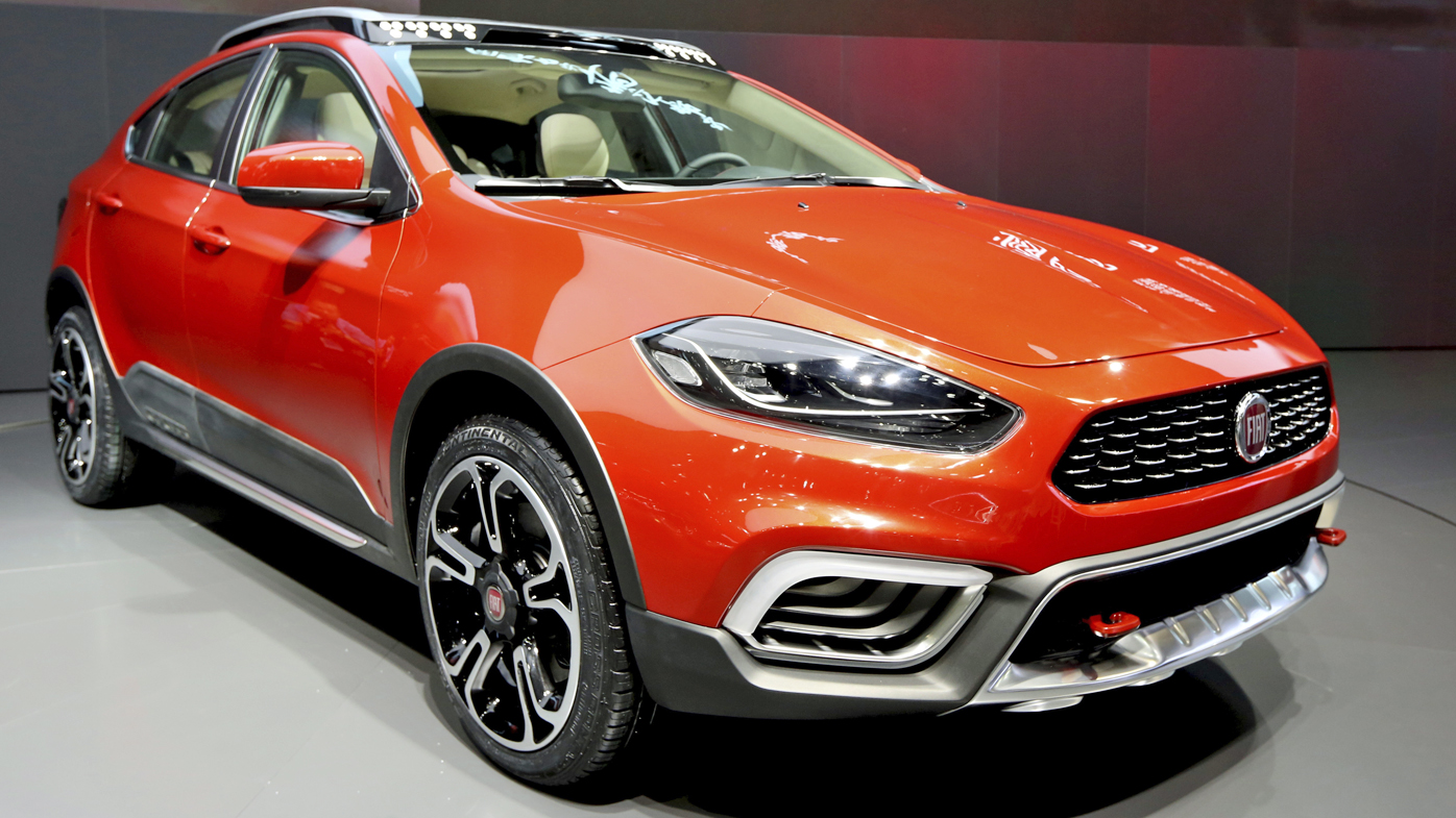 A Fiat Ottimo Cross car of GAC Fiat Chrysler, a joint venture between Guangzhou Automobile Group Co (GAC) and Fiat Chrysler, is on display during the 16th Shanghai International Automobile Industry Exhibition, also known as Auto Shanghai 2015.