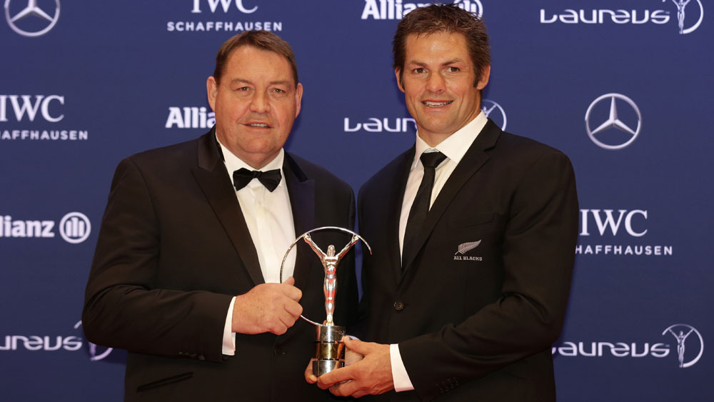 Steve Hansen and Richie McCaw. (AAP)
