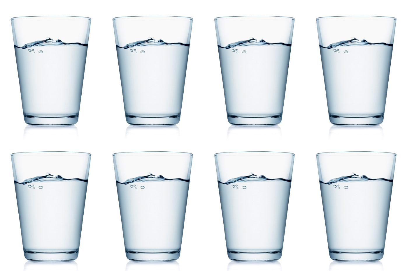 Image result for drink 8 glasses of water a day