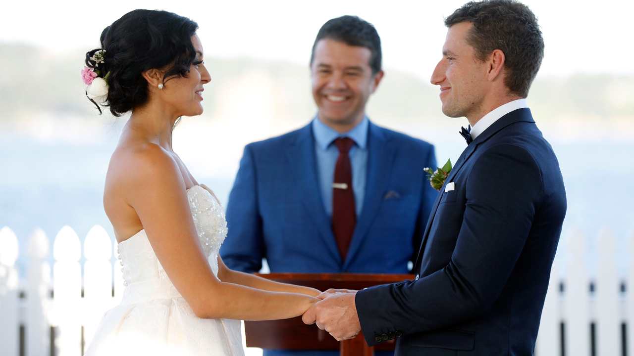Christie and Mark share their vows.