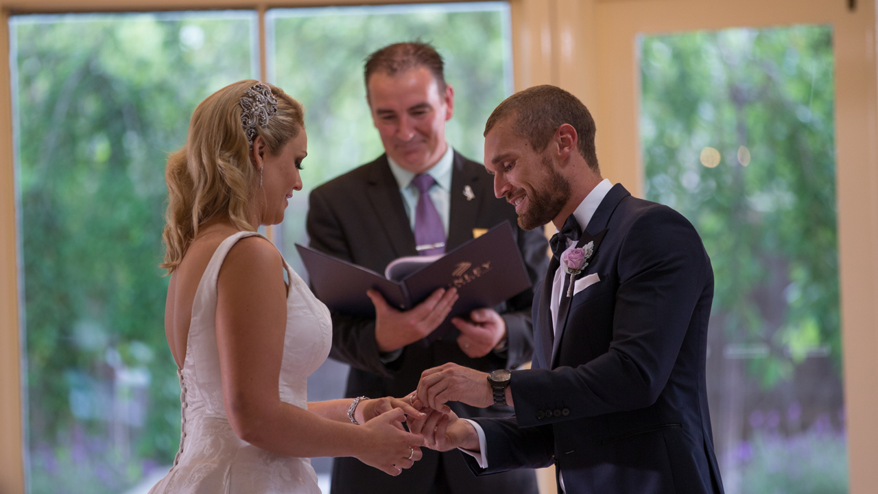 Jono gives Clare her wedding ring.