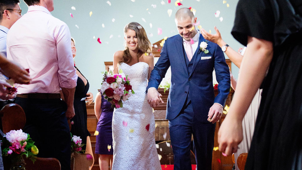 Erin and Bryce take their first steps as 'husband' and 'wife'