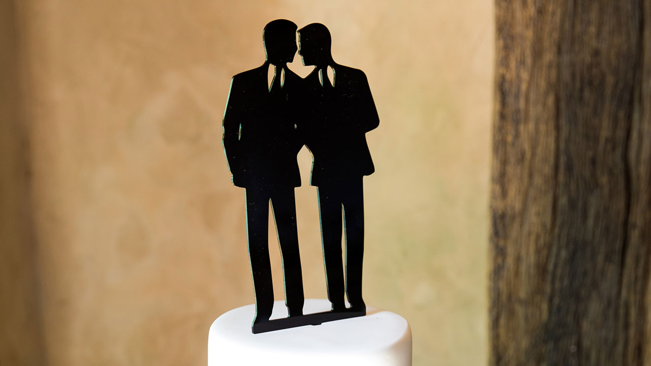 Craig and Andy's cake topper.