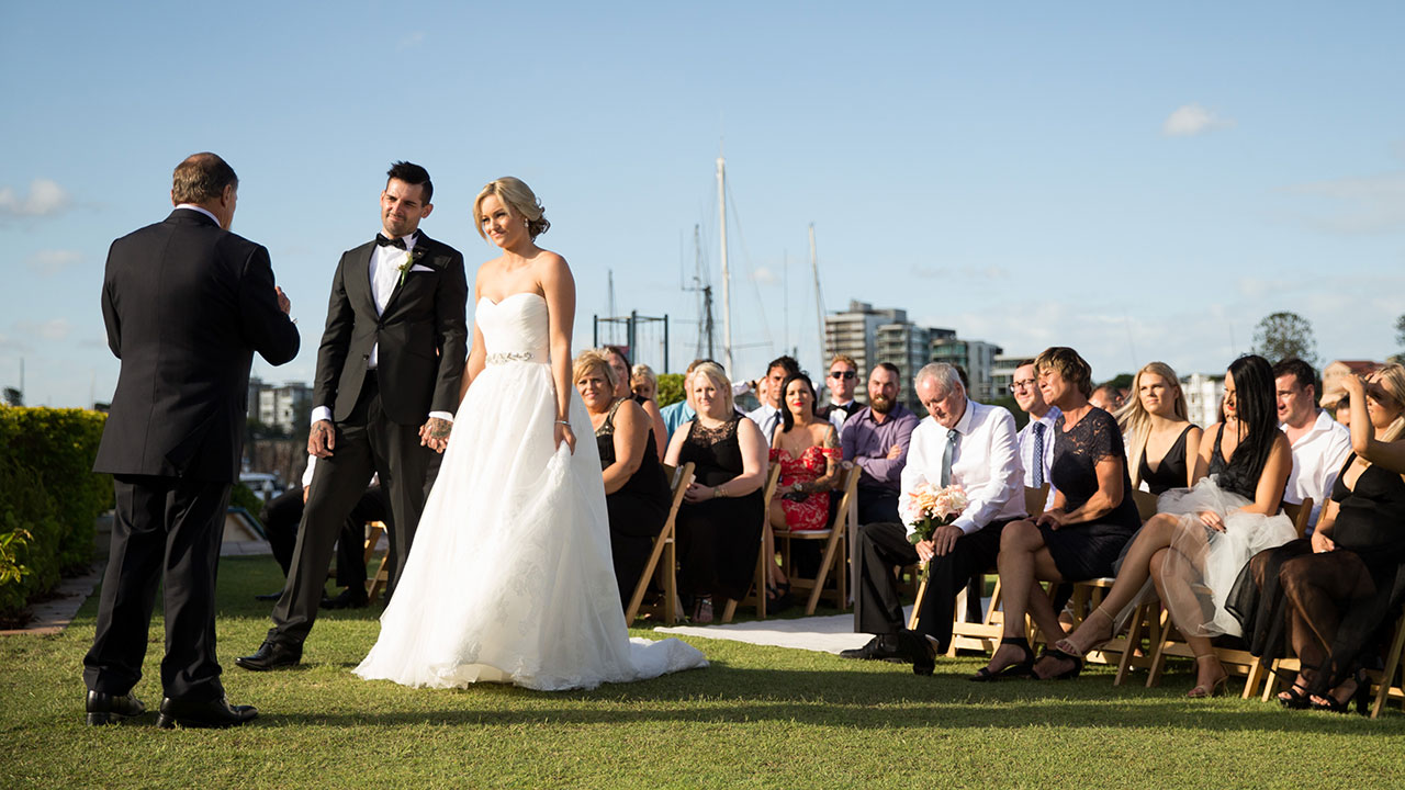 Keller and Nicole wed in front of family and friends.