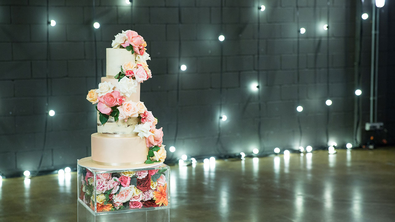 Keller and Nicole's cake takes centre stage.