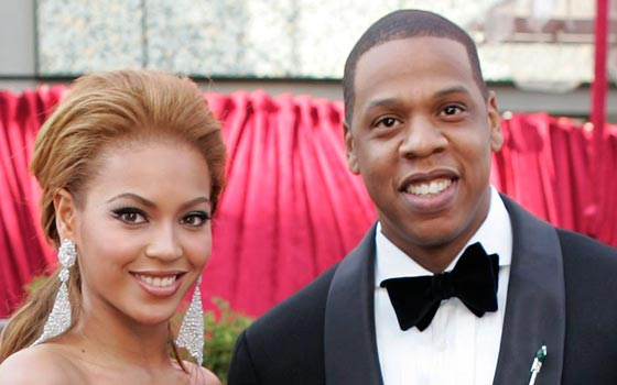 Jay Z and his wife Beyonce. (AAP)
