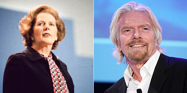 Margaret Thatcher and Richard Branson