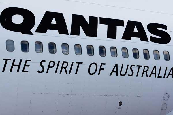 Qantas plane detail