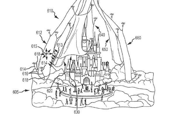 Disney's commercial drone concept image. (US Patent)