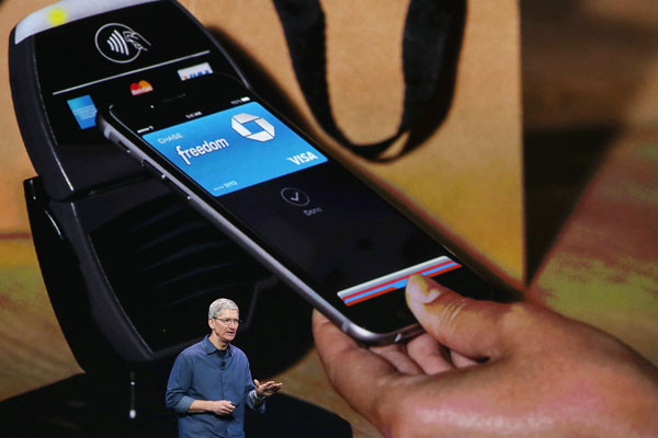 Apple CEO Tim Cook explaining ApplePay.